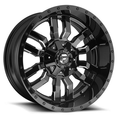 "Fuel D595 Sledge 18x9 8x6.5"" +1mm Black/Milled Wheel Rim 18"" Inch"