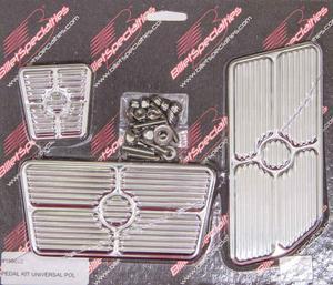 BILLET SPECIALTIES Polished Pedal Pad Kit P/N 198622