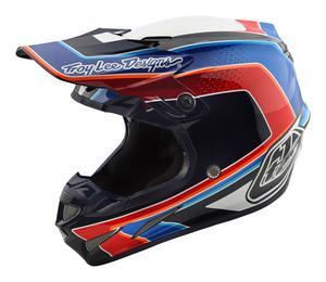 Troy Lee Designs 2018 SE4 Carbon MIPS Helmet Squadra White Adult Size M