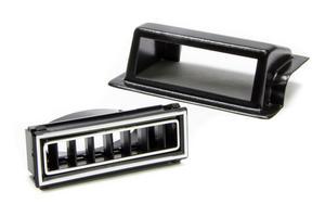 VINTAGE AIR Black/Chrome Rectangle Kick Panel Pass Side Louver P/N 49151-VUL