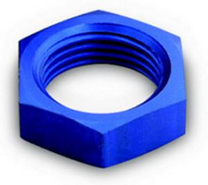 A-1 Products Blue Aluminum 10 AN Bulkhead Fitting Nut P/N 92410