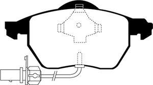 EBC Brakes DP31483C EBC Redstuff Ceramic Low Dust Brake Pads