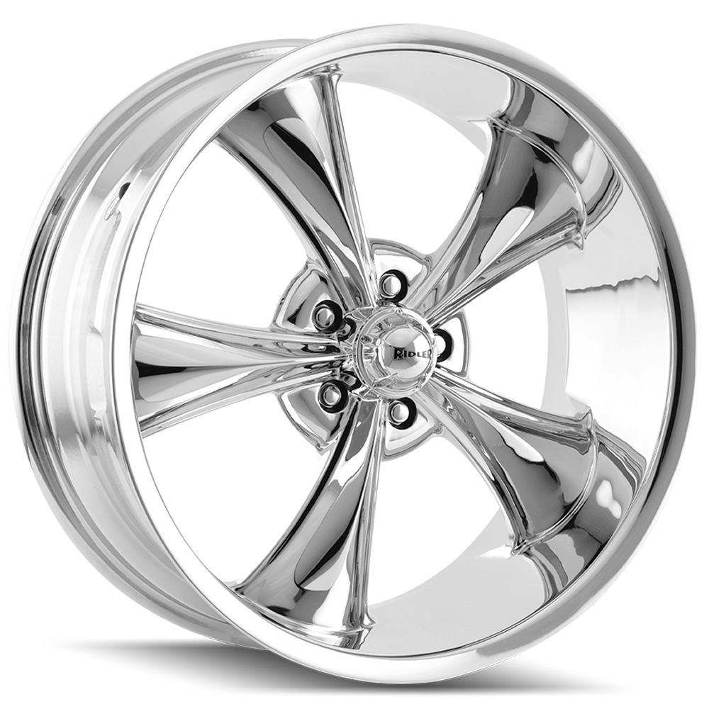 "Ridler 695 22x10.5 5x5"" +0mm Chrome Wheel Rim 22"" Inch"