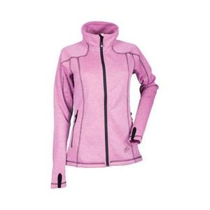 DSG Performance Fleece Womens Jacket Pink Heather/Black (Pink, Medium)