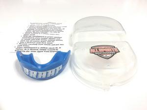 """All Sports Mouthguards White """"Braap"""" Blue Mouthguard SM/MD"""