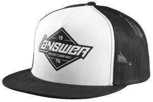 Answer Truckin Hat White/Black (Black, OSFM)