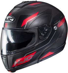 HJC CL-Max III Flow Helmet Semi-Flat Red (MC-1SF) (Black, X-Small)