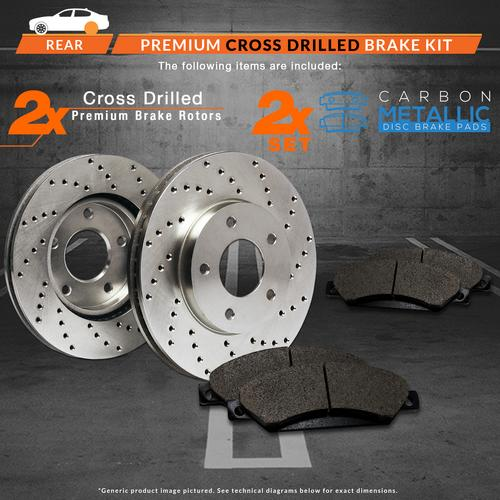 |Rear Rotors w//Ceramic Pads Premium Brakes Fit Lexus GS350 GS450H IS250 IS350