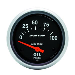 AutoMeter 3522 Sport-Comp Electric Oil Pressure Gauge