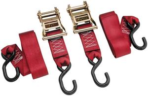 BikeMaster 100577 Ratchet Tie Downs - 2in. x 84in. - Red