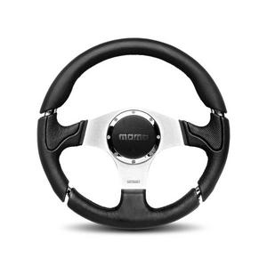 Momo Millennium Brushed Aluminum 350 mm Diameter Steering Wheel P/N MIL35BK1P