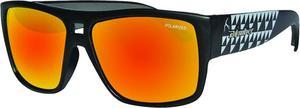 Bomber Irie Bomb Polarized Floating Sunglasses Matte Black / Red Mirror Lens (Black, OSFM)