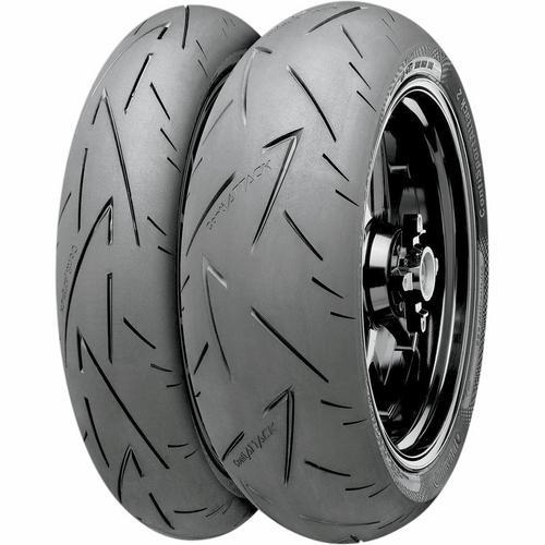 Continental 02441760000 Conti Road Attack 2 C Hyper Sport Touring Front Tire - 110/80ZR-18
