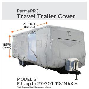 "Classic Accesories Travel Trailor Cover 27-30' length x 118"" Max Height"