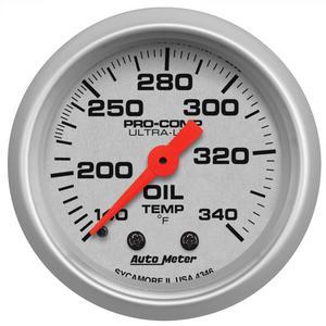 AutoMeter 4346 Ultra-Lite Mechanical Oil Tank Temperature Gauge