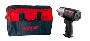 "AIRCAT 1/2"" Dr AirCat Composite Air Impact Wrench W/ FREE Tool Bag"