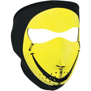 Zan Headgear Full Face Mask Smiley Face (Yellow, OSFM)
