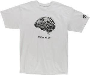 FMF Racing 2016 Adult Think Faster T-Shirt White Tee Shirt M