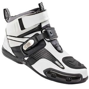 Joe Rocket Atomic Motorcycle Boots White/Black Mens Size 8