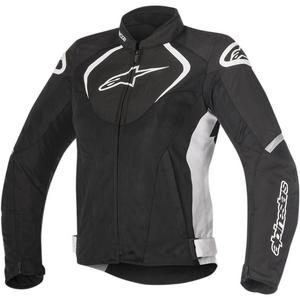 Alpinestars Stella T-Jaws Womens Waterproof Jacket Black/White (Black, Small)