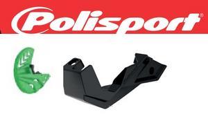 Polisport Green Front Disc Brake Guard W/ Mount For Kawasaki 8151100003