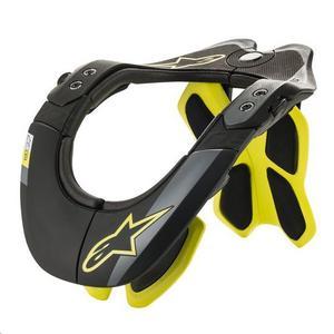 Alpinestars BNS Tech-2 Neck Support Black/Yellow Fluo (Black, Large - X-Large)