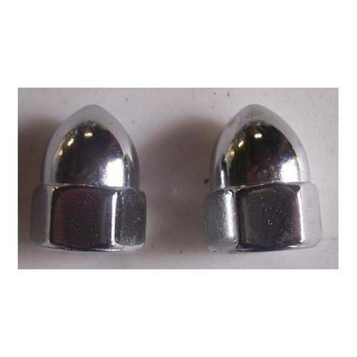 Drag Specialties DS-190860 Chrome Acorn Nuts - 7/16in.-20
