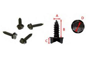 Sports Parts Inc AT-12604-3A Bronco V-Cut Tire Studs - 1000pk.