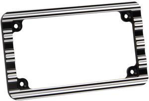 Arlen Ness Black 10-Gauge Ness License Plate Frame 12-136