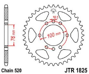 JT Sprockets Steel Rear Sprocket 38T 520 Pitch JTR1825.38