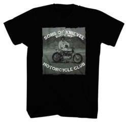 American Classics Apparel Mens Sons Of Knievel Tee Black L
