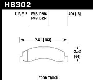 Hawk Performance HB302F.700 Disc Brake Pad