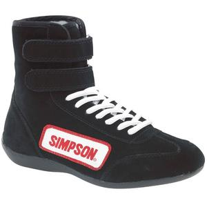 SIMPSON SAFETY Size 14 Black High-Top Driving Shoes P/N 28140BK