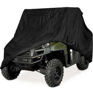 "HEAVY DUTY WATERPROOF SUPERIOR UTV SIDE BY SIDE COVER COVERS FITS UP TO 120""L W/ ROLL CAGE BLACK COLOR ATV COVER RHINO RANGER MULE GATOR PROWLER YAMAHA PROWLER RANCHER FOREMAN FOURTRAX RECON 4x4"