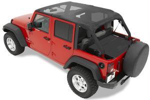 Bestop Header Bikini Top; Safari-style - Jeep 2007-2009 Wrangler Unlimited