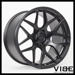 "19"" MRR FS01 MATTE BLACK FLOW FORGED CONCAVE WHEELS RIMS FITS HONDA ACCORD COUPE"