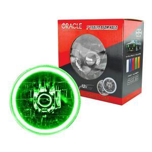 Oracle Lighting Tech Green Halo LED Ring Sealed Beam Headlight P/N 6905-004