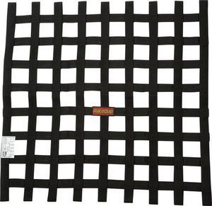 RACEQUIP 21 x 24 in Rectangle Black Window Net P/N 726007