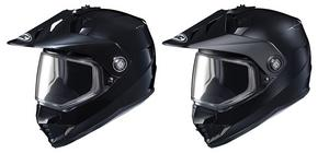 HJC Adult DS-X1SN Solid Snowmobile Dual Lens Helmet Black S