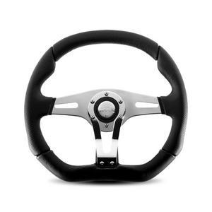 Momo Trek Silver/Chrome Aluminum 350 mm Diameter Steering Wheel P/N TRK-R35BK0B