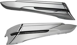 Ciro Chrome LED Saddlebag Extensions For Harley Davidson FLHT 97-13 40100