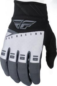 Fly Racing F-16 Youth Gloves Black/White/Gray (Black, 1)