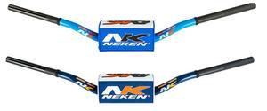 """Neken Handlebars 1 1/8"""" Motorcycle Bars YZ Bend Blue/White"""