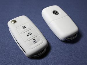 WHITE SILICONE COVER FOR VW 3-BUTTON REMOTE FOLDING FLIP KEY