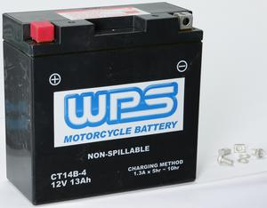 WPS Maintenance Free Sealed AGM Motorcycle Battery CT14B-4