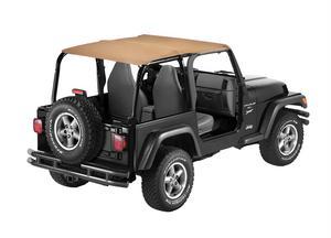 Bestop Bikini Top, Strapless Safari-style - Jeep 1997-2002 Wrangler; Safari