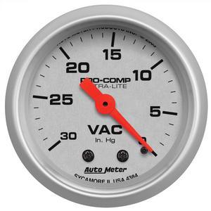 AutoMeter 4384 Ultra-Lite Mechanical Vacuum Gauge