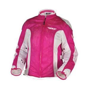 Fly Racing CoolPro II Ladies Mesh Jacket Pink/White (Pink, X-Large)