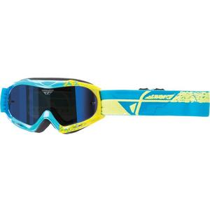 Fly Racing Zone Composite Youth Goggles Blue/Hi-Vis (Blue)