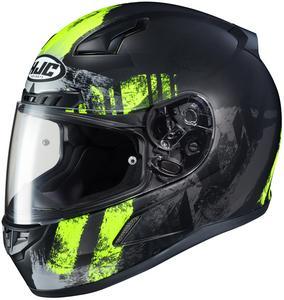 HJC CL-17 Arica Helmet Semi-Flat Hi-Viz Yellow (MC-3HSF) (Green, Small)